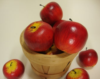 Faux Fruit. Mini Red Apples, Fake Food Home Decor. Bag of 12 Pieces.