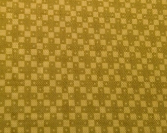 Hope Valley: By DENYSE SCHMIDT, 1 yard cut, 100% cotton, OOP, Four Square, gold, vintage look! Rare!