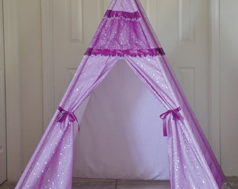 Special Sale Ready to ship Princess Party Kids Teepee, Kids Play Tent, Childrens Play House, Tipi,Kids Room Decor