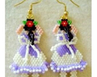 Peek A Boo Baby Girl earrings - Beading Pattern