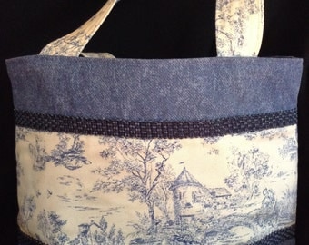 Denim and Toille handbag