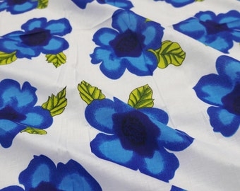Blue Floral Print Fabric Decorative Craft Fabric For Sewing Designer Fabric Apparel Upholstery Dressmaking Material Fabric By 1 Yard ZBC6279