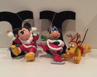 Disney Christmas Ornaments - Circa 1980's - set of 9