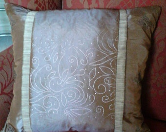 Taupe accent pillow cover