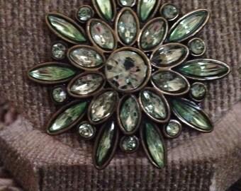 Pale green glass pendant