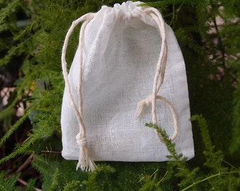 12 Muslin Cotton Favor Bags, 3x4, Drawstring,Advent Bags, Favor Bags, Packaging