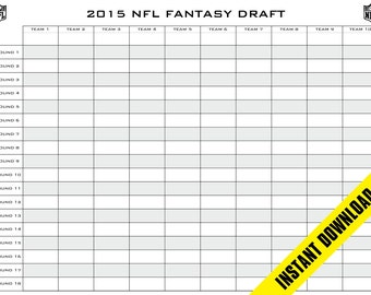 Canny image with printable fantasy football draft board