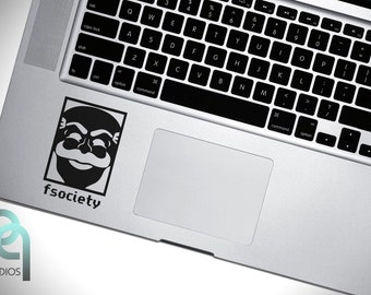 fsociety - inspired by Mr. Robot High Quality matte vinyl macbook or laptop keyboard decal, sticker
