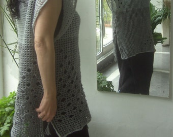 Brand new hand knitted tunic