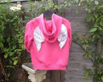 OOAK angel wings hoodie 3-4 years
