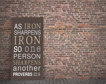 Scripture Subway Art: Iron Sharpens Iron