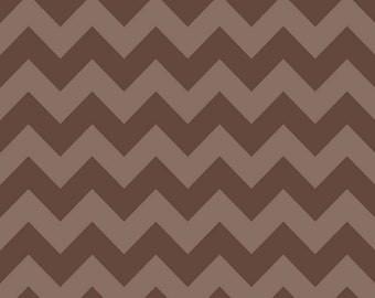 Brown Tone on Tone Medium Chevron by Riley Blake Designs - 380-71 - Quilting Cotton Fabric - by the yard fat quarter half