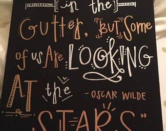 Oscar Wilde Quote Board (Black, Gold, Bronze, and Silver)
