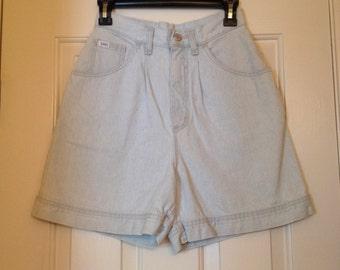 Light Blue High-Waisted Shorts