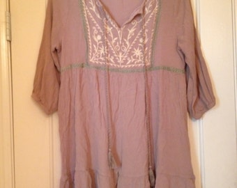Brown Hippie Southern Style Dress