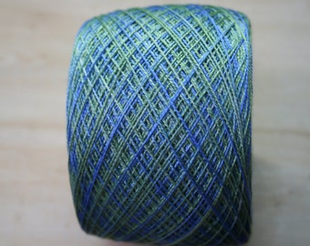 Silk yarn Lace weight Hand dyed