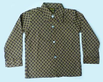 70's Printed Mod Shirt British Made 4-5 Years