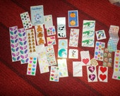 Vintage Stickers Mrs Grossman SandyLion Lisa Frank 1980 to 1993 Lot Bears Love You dress a baby  Boynton Unicorn Ballet