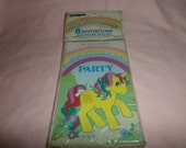 Vintage My Little Pony Invitations Party NIP 1984  8 invites