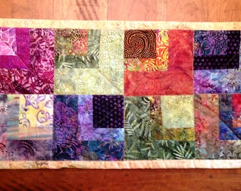 Batik Quilted Table Topper