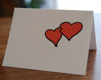 Card Intertwined Red Hearts / I love you / Love Card