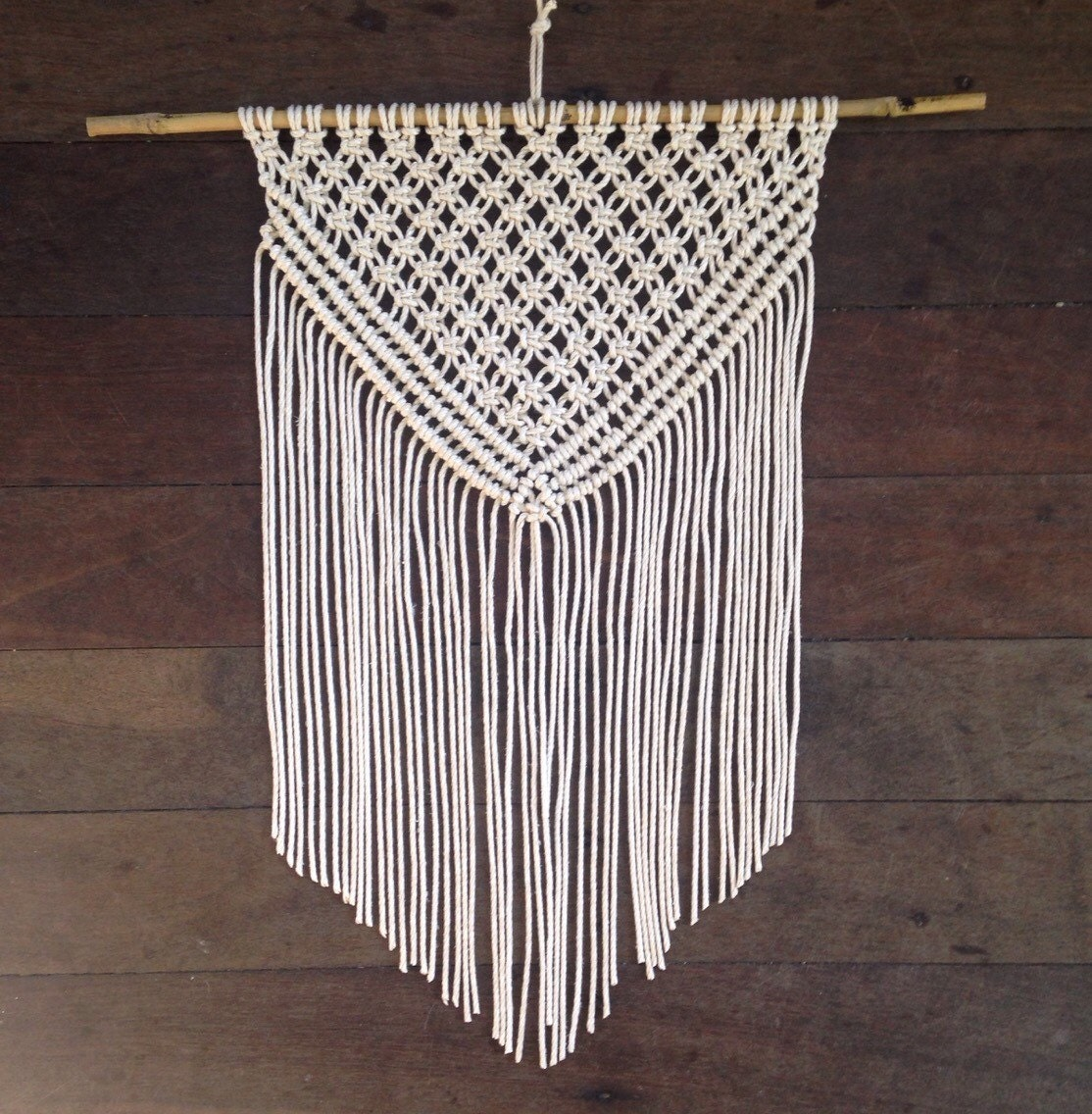 Triangle Rope Macrame Wall Hanging Wall Art Wall Fringe