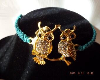 Owl Macrame Bracelet