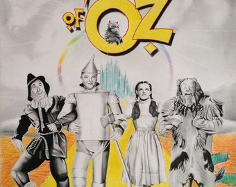 The wizard of Oz, Judy Garland,  authentic print of original artwork