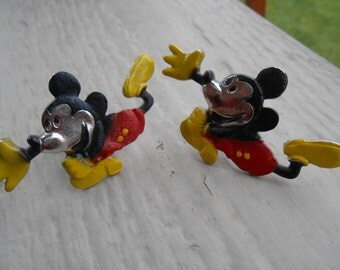Vintage Large  Mickey Mouse Cufflinks. Disney. 1980s. Gift For Dad, Brother, Husband.