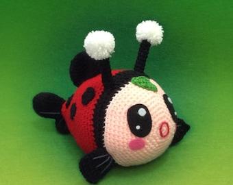 PATTERN - Baby Fish In Ladybird Costume - Crochet Pattern, pdf