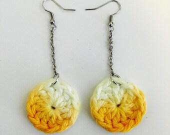 Yellow Ombre Earrings