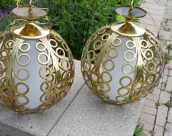 Vintage modern 1960's pendant  lights