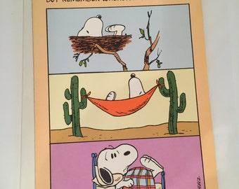 Vintage Snoopy Greeting Card