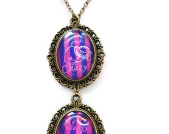 Cheshire cat necklace-cheshire cat alice in Wonderland