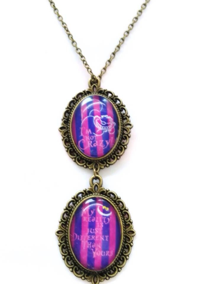cheshire cat necklace cheshire cat in
