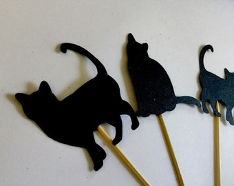 Cat Lover Cupcake Toppers X 12 Birthday Cat Lady Celebrate Party Animal Lover feline pets party