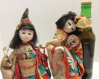 Japan. 2 Vintage Dolls 1960'sOriginal Costumes