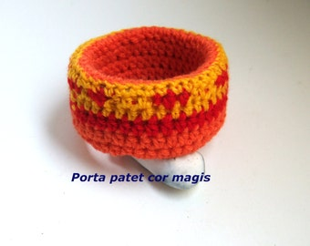 Bracelet Sunset in yellow, orange and red, Upcycling