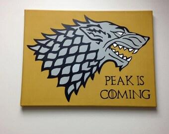 House Stark Sigil Painting Game of Thrones Art