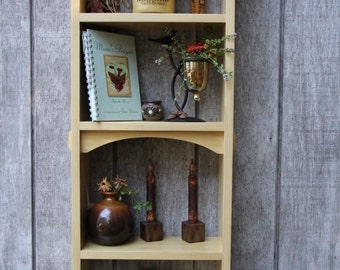 Wood Wall Shelve, Poplar Wood Wall Hanging Shelf, Book Shelf, Home Decor Wall Shelve, 4 Shelf Wall Shelve, Home Decor Wall Shelve.
