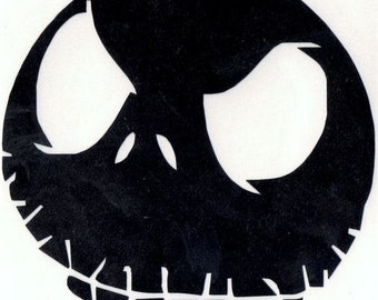 Nightmare Before Christmas Jack Skellington Vinyl Decal