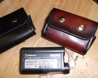"""INSULIN PUMP Leather cases ~~~ All BRANDS ~~~ Medtronic, Animas Vibe, Accu-Check,etc.~~""""Clip-On""""... or ... """"Belt Loop""""~~fits any Belt!"""