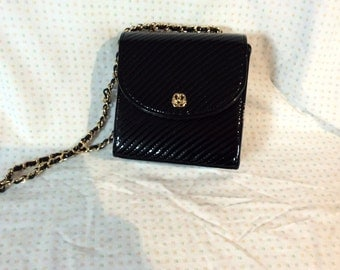 Italian patent leather handbag