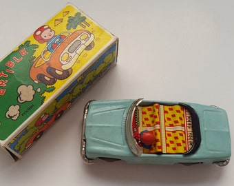 VINTAGE Baby Convertible Blue Tin Toy MF 926 With Box!!