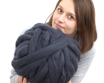 Super chunky yarn, merino wool yarn, big yarn, bulky yarn 18 micron, extrafine merino wool