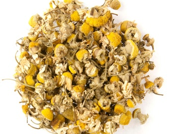 Certified Organic Chamomile Flowers - Dried Herb - 4oz