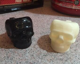 3D printed Skull Protein Scoop