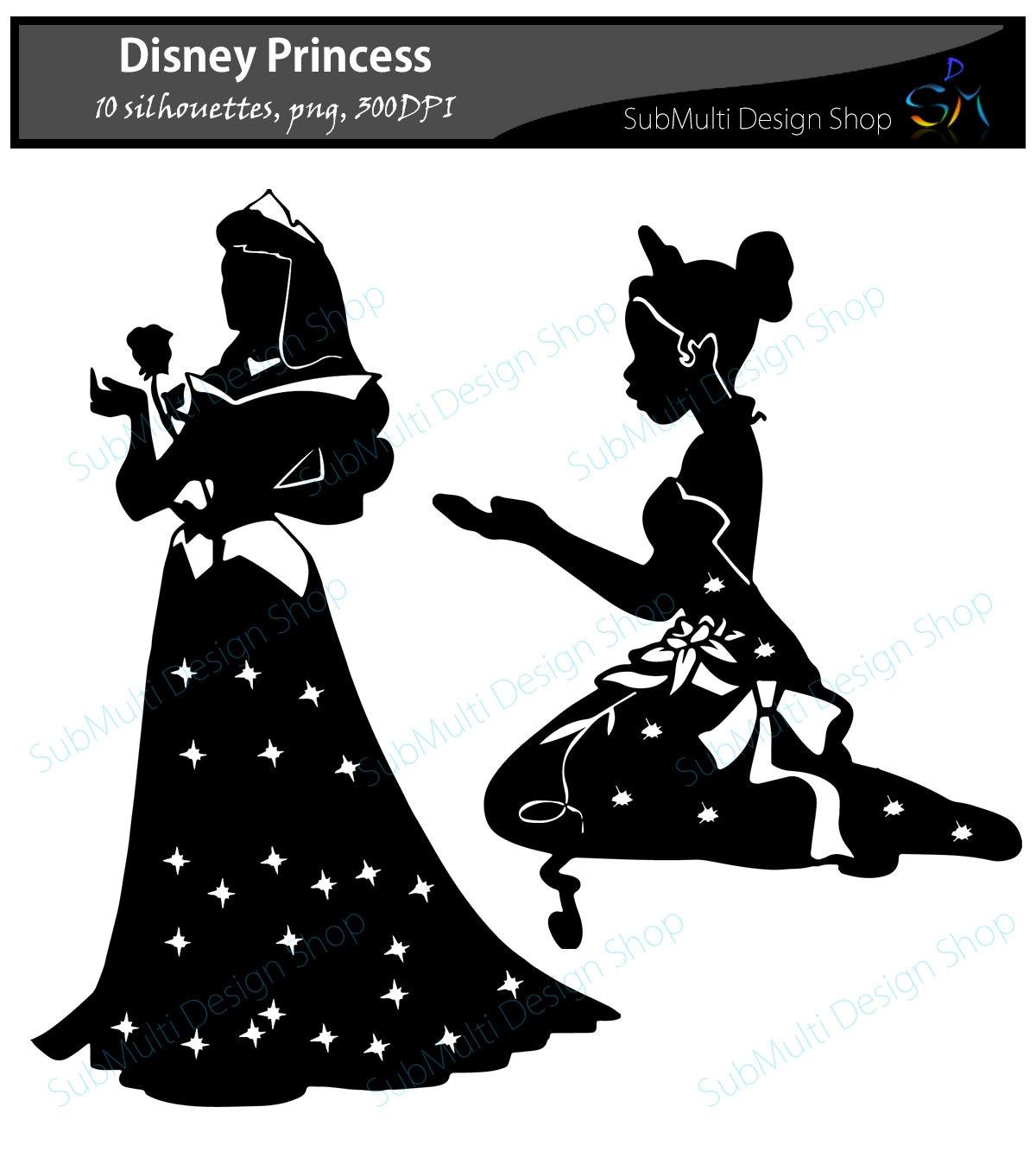 Disney Princess Silhouette svg / svg cut file / Ilustrator ...