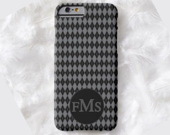 ARGYLE Monogram Cell Phone Case, iPhone 6 case, Note 4 case, iPhone 6 plus cell phone case,iPhone 6 plus case,S6,Father's Day gift,Mens gift