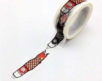 Washi Tape, Japanese Koinobori Windsock, 20mm x 10m